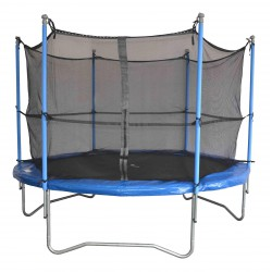 Trampoline 305 cm + filet de protection + échelle